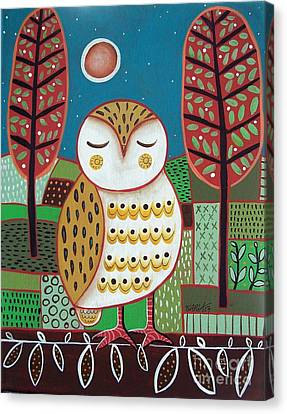 White Owl Canvas Print by Karla Gerard