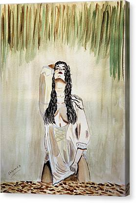 White Passion Canvas Print by Shlomo Zangilevitch