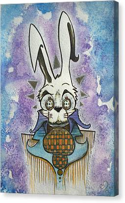 White Rabbit Canvas Print by Ellen Henneke