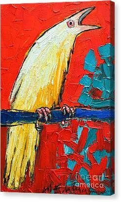 White Raven's Scream Canvas Print by Ana Maria Edulescu