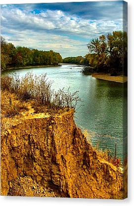 White River Erosion Canvas Print by Julie Dant
