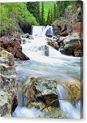 White River Canvas Print by Mike Schmidt