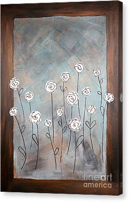 White Roses Canvas Print by Home Art