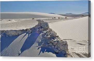 White Sands New Mexico Sand Rift Canvas Print by Gregory Dyer
