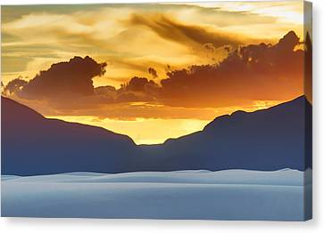 White Sands Sunset #3 - New Mexico Canvas Print by Nikolyn McDonald