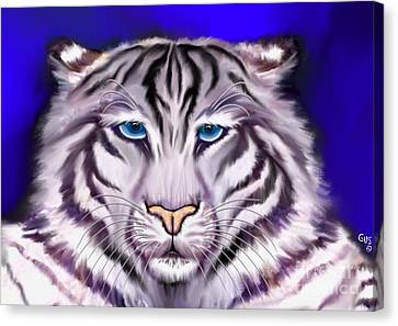 White Tiger Canvas Print by Nick Gustafson
