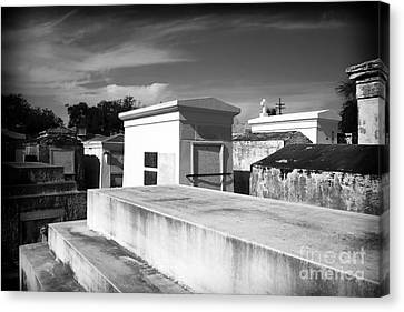 White Tombs Canvas Print by John Rizzuto