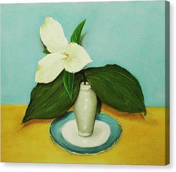 White Trillium Canvas Print by Anastasiya Malakhova