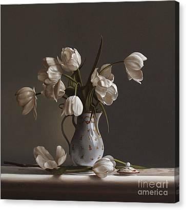 White Tulips Canvas Print by Larry Preston