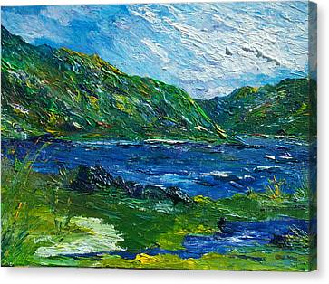 White Water In Kenmare  Kerry Canvas Print by Conor Murphy