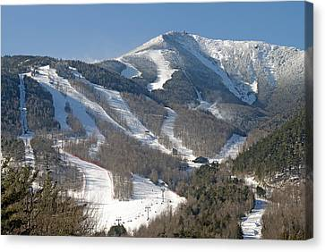 Whiteface Ski Mountain In Upstate New York Near Lake Placid Canvas Print by Brendan Reals