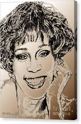 Whitney Houston In 1992 Canvas Print by J McCombie
