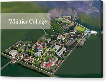 Whittier College Canvas Print by Rhett and Sherry  Erb