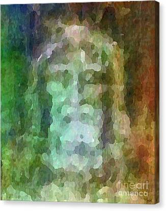 Who Do Men Say That I Am - The Shroud Canvas Print by Glenn McCarthy Art and Photography