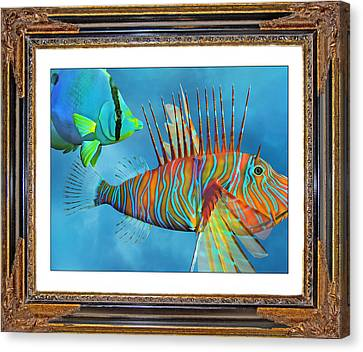 Who Framed The Fishes Canvas Print by Betsy Knapp