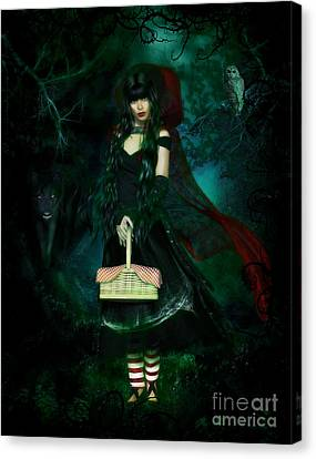 Who Is Afraid Of The Big Bad Wolf Canvas Print by Shanina Conway