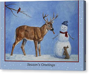 Whose Carrot Seasons Greeting Canvas Print by Crista Forest