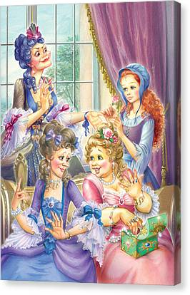Wicked Sisters  Canvas Print by Zorina Baldescu
