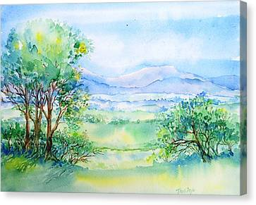 Wicklow Landscape In Summer Canvas Print by Trudi Doyle