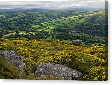 Widdecombe In The Moor Canvas Print by Pete Hemington