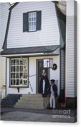 Wigmaker And Barber Shop Williamsburg Virginia Canvas Print by Teresa Mucha