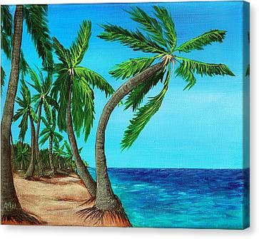 Wild Beach Canvas Print by Anastasiya Malakhova
