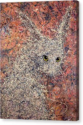 Wild Hare Canvas Print by James W Johnson