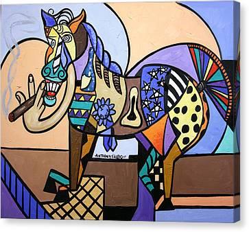 Wild Pony Canvas Print by Anthony Falbo