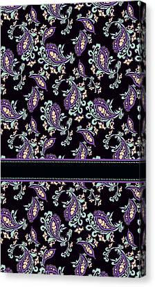 Wild Purple Paisley Canvas Print by Jenny Armitage