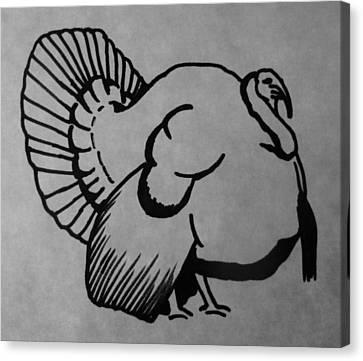 Wild Turkey Canvas Print by Joann Renner