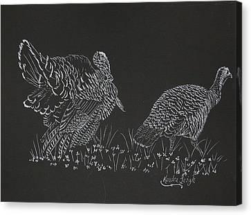 Wild Turkey Canvas Print by Kendra DeBerry