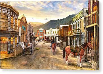 Wild West Town Canvas Print by Dominic Davison