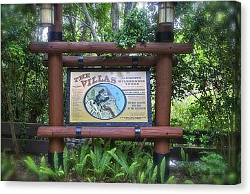 Wilderness Lodge Sign Canvas Print by Thomas Woolworth