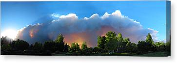 Wildfire Coming Canvas Print by Ric Soulen