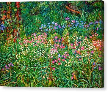 Wildflowers Near Fancy Gap Canvas Print by Kendall Kessler