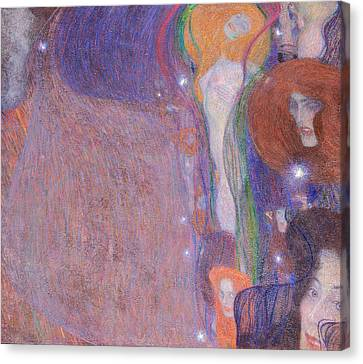 Will O The Wisps Canvas Print by Gustav Klimt