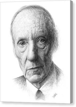 William S. Burroughs Canvas Print by Christian Klute