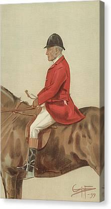 William Ward Tailby Canvas Print by Sir Samuel Luke Fildes