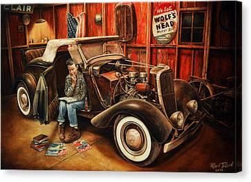 Willie Gillis Builds A Custom Canvas Print by Ruben Duran