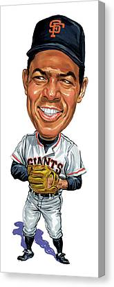Willie Mays Canvas Print by Art