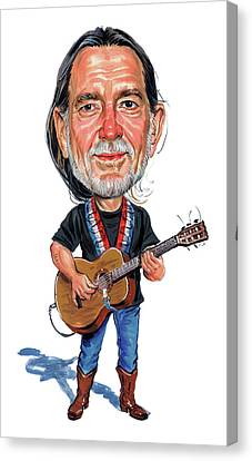 Willie Nelson Canvas Print by Art