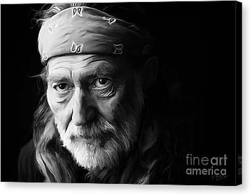 Willie Nelson Canvas Print by Paul Tagliamonte