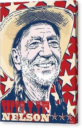 Willie Nelson Pop Art Canvas Print by Jim Zahniser