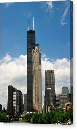 Willis Tower Aka Sears Tower Canvas Print by Adam Romanowicz