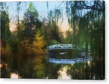 Willow Bridge Canvas Print by Lori Deiter