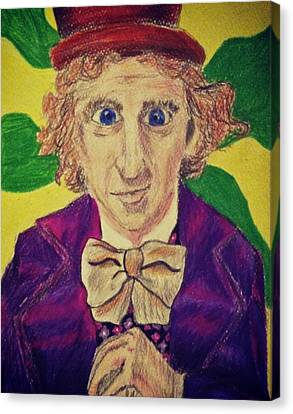 Willy Wonka Canvas Print by Jessica Sanders