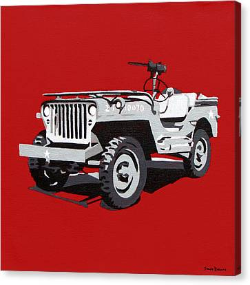 Willys Jeep Canvas Print by Slade Roberts