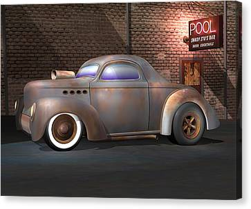 Willys Street Rod Canvas Print by Stuart Swartz