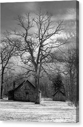 Wilson Lick Ranger Station Canvas Print by Debra and Dave Vanderlaan