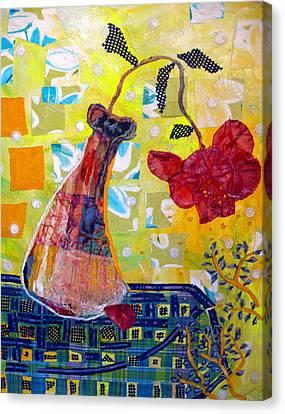 Wilting Rose Canvas Print by Diane Fine